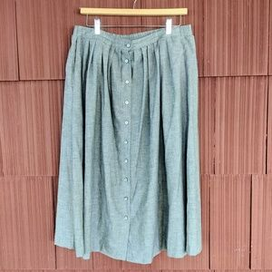 Vintage Flowy Button Down Skirt